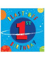 Blast Off Birthday Luncheon Napkins - 1st Birthday - 16ct