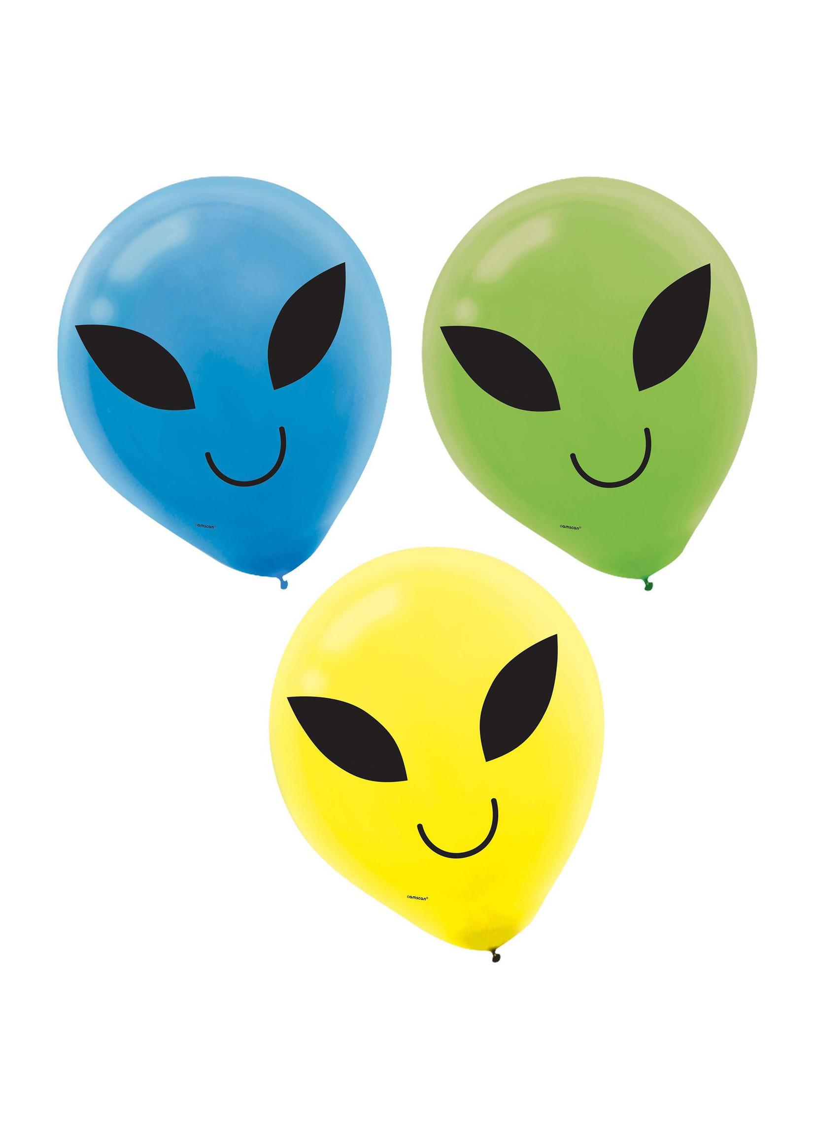 Blast Off Birthday Latex Balloons - 15ct