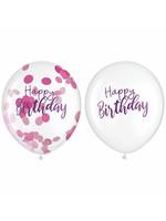 Sparkle Latex Confetti Balloons - 6ct