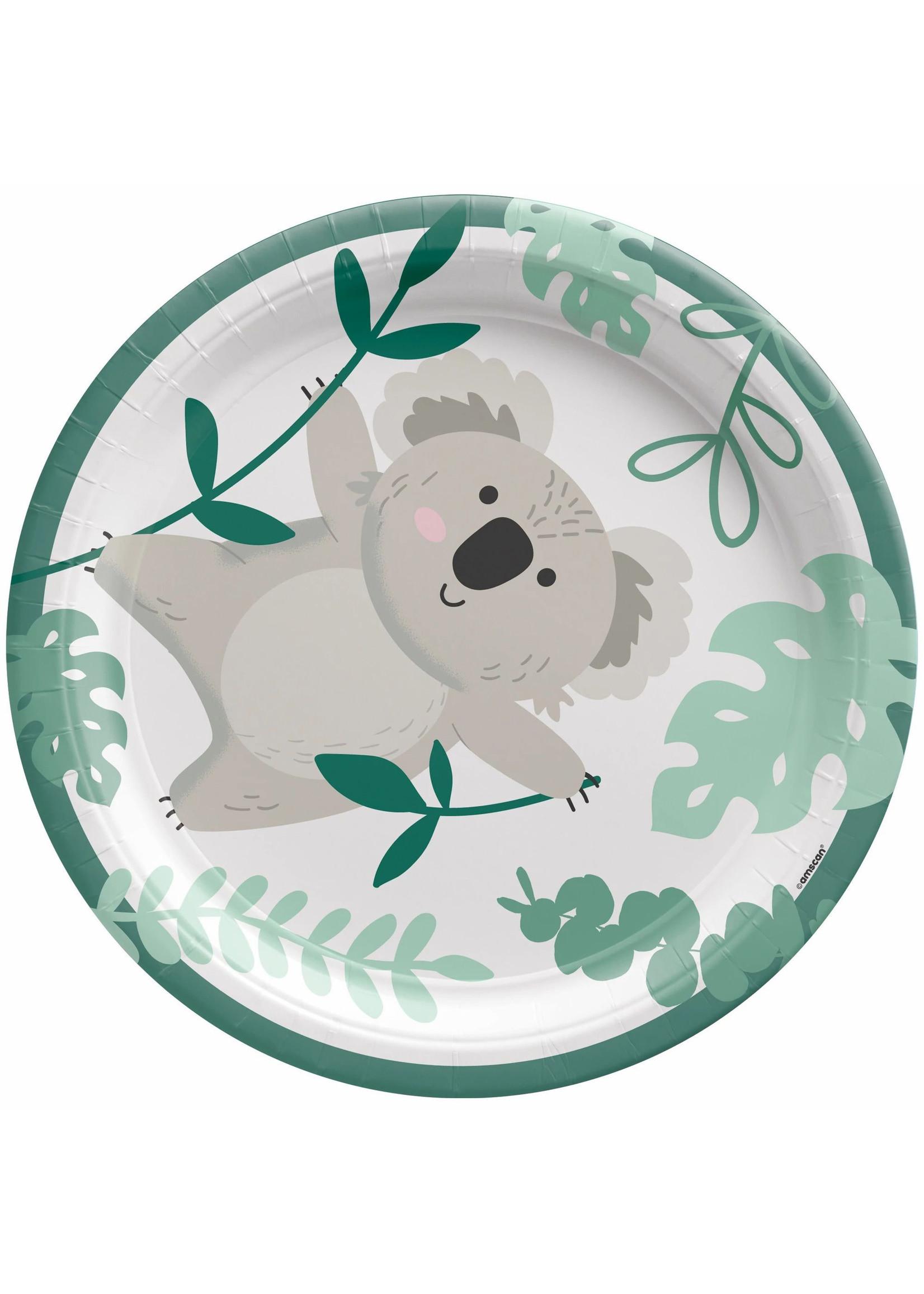 """Koala 7"""" Round Plates - 8ct"""