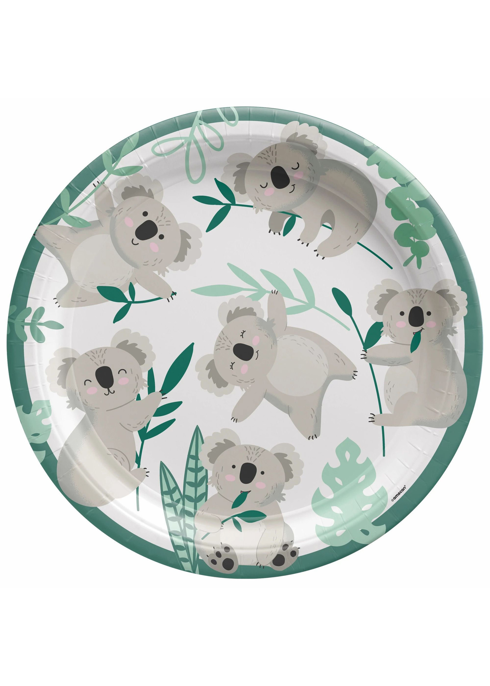 "Koala 9"" Round Plate - 8ct"