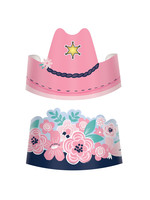 Saddle Up Paper Crowns - 8ct