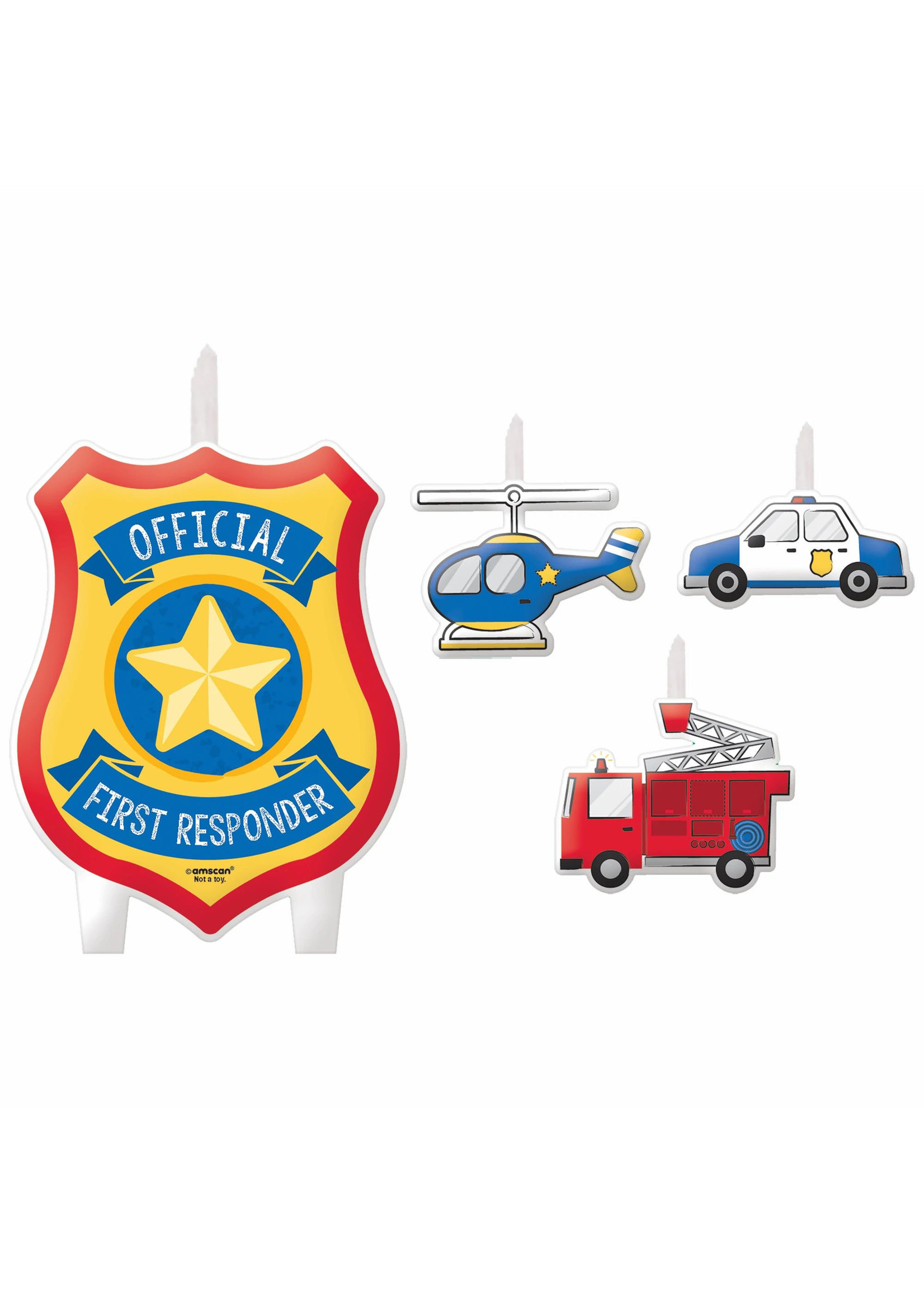 First Responders Birthday Candle Set
