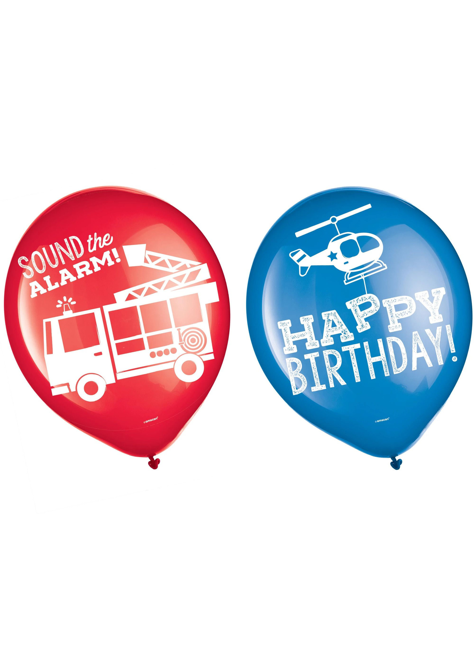 First Responders Latex Balloons - 6ct