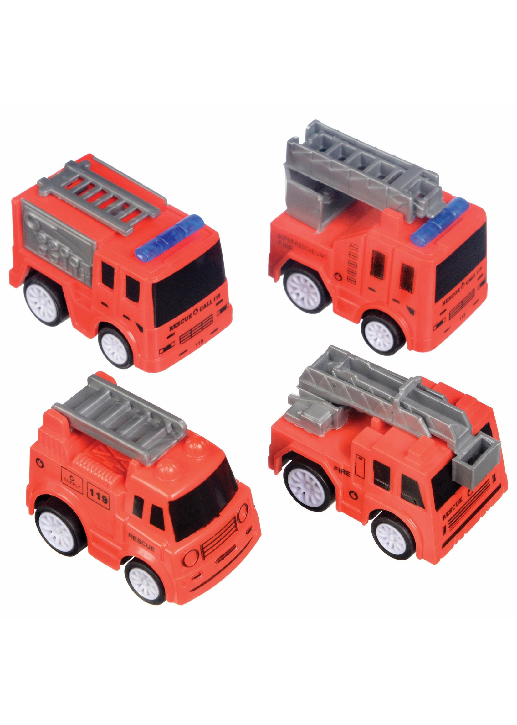 First Responders Fire Truck Favor Pack- 4ct