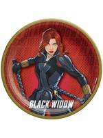 """Black Widow 7"""" Round Plates - 8ct"""