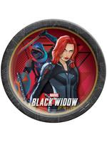 """Black Widow 9"""" Round Plates - 8ct"""