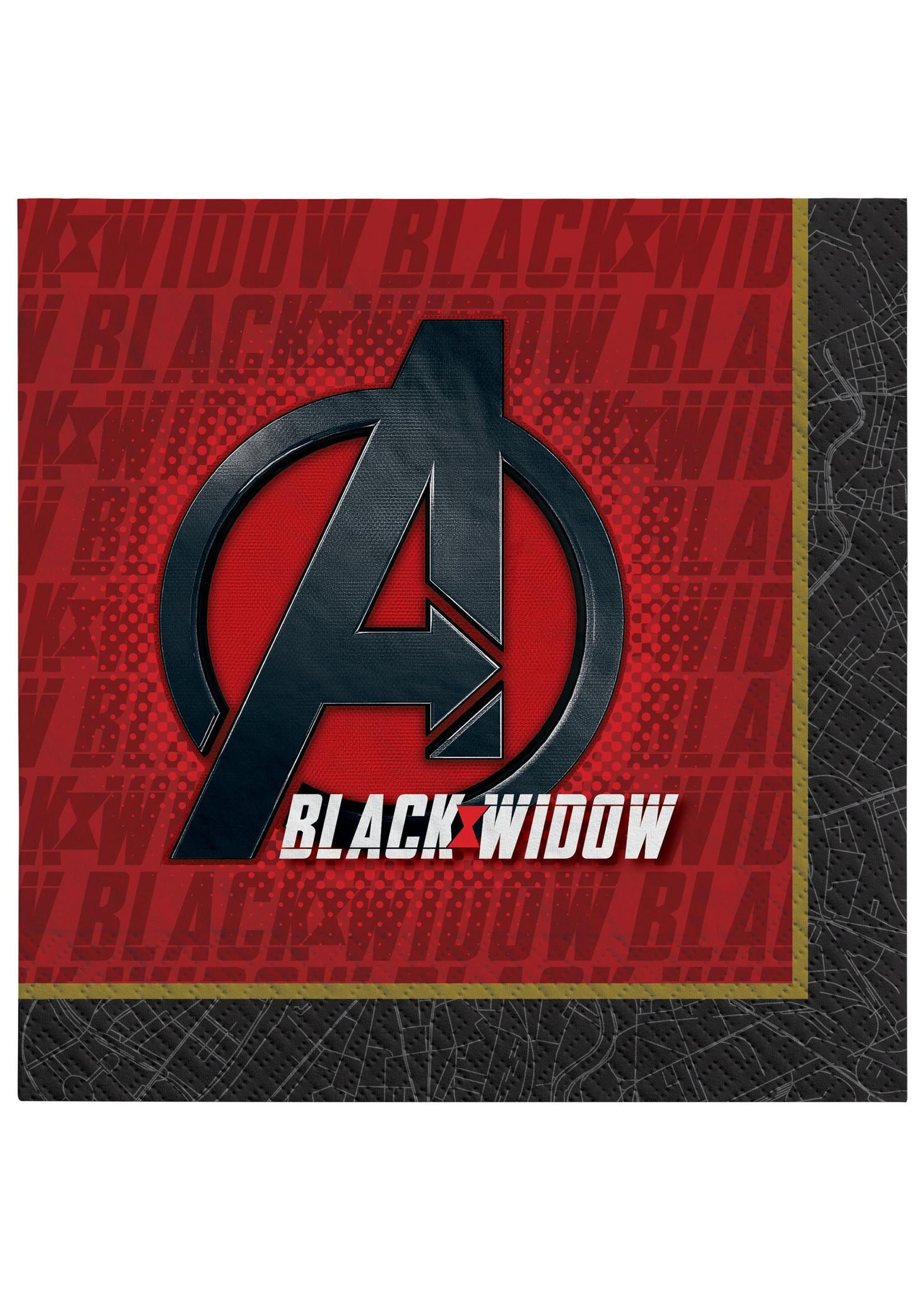 Black Widow Luncheon Napkins - 16ct