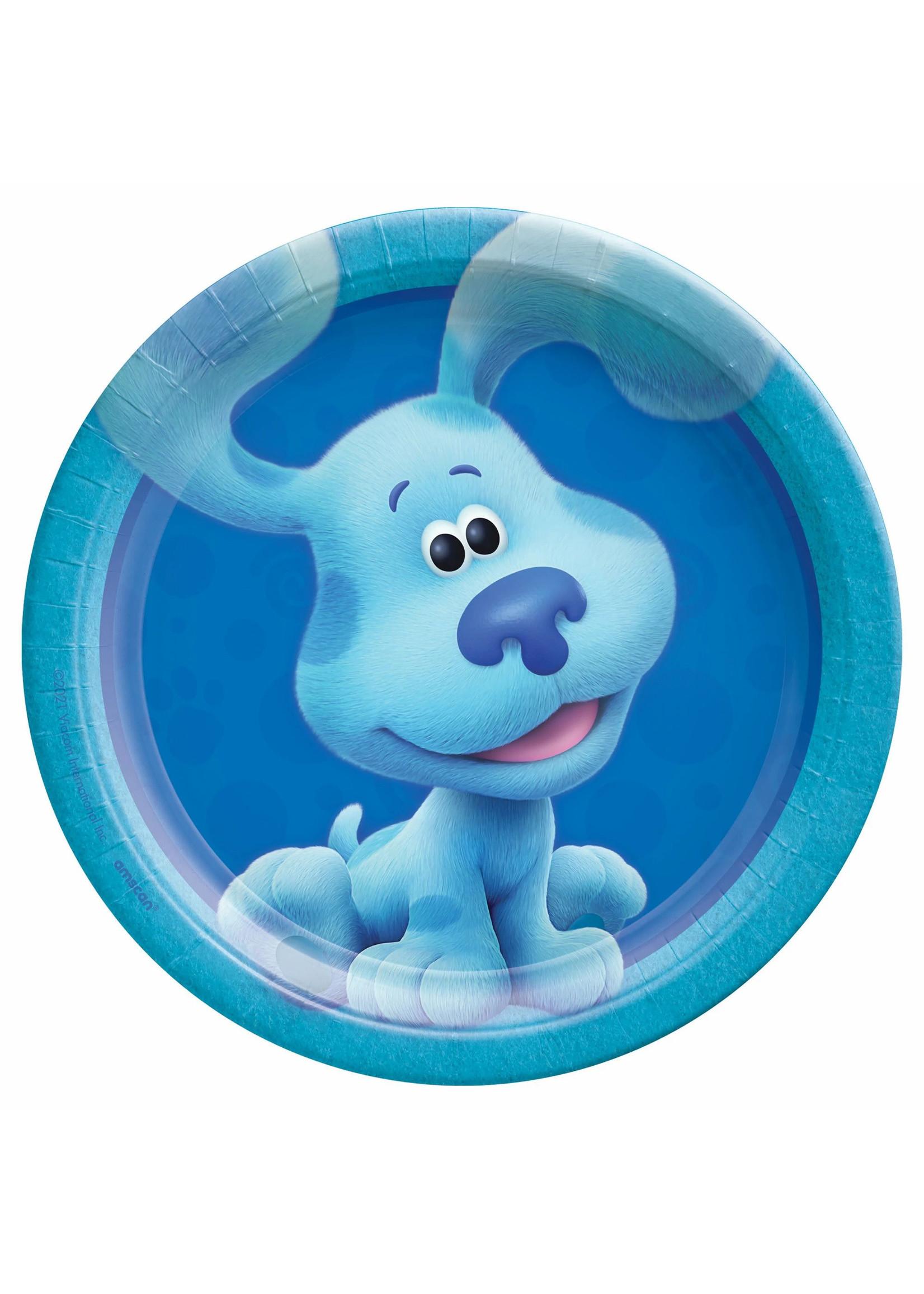 "Blues Clues 7"" Round Plates - Blue - 8ct"