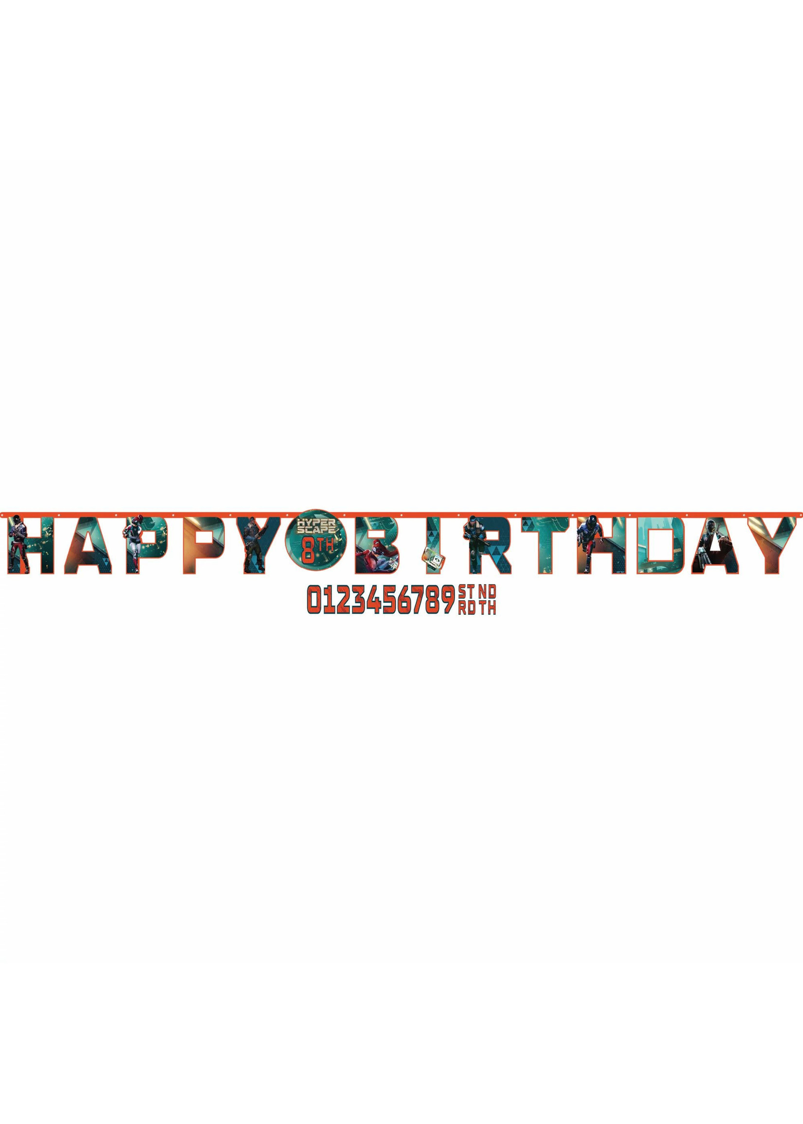 Hyper Scape Jumbo Add-An-Age Letter Banner