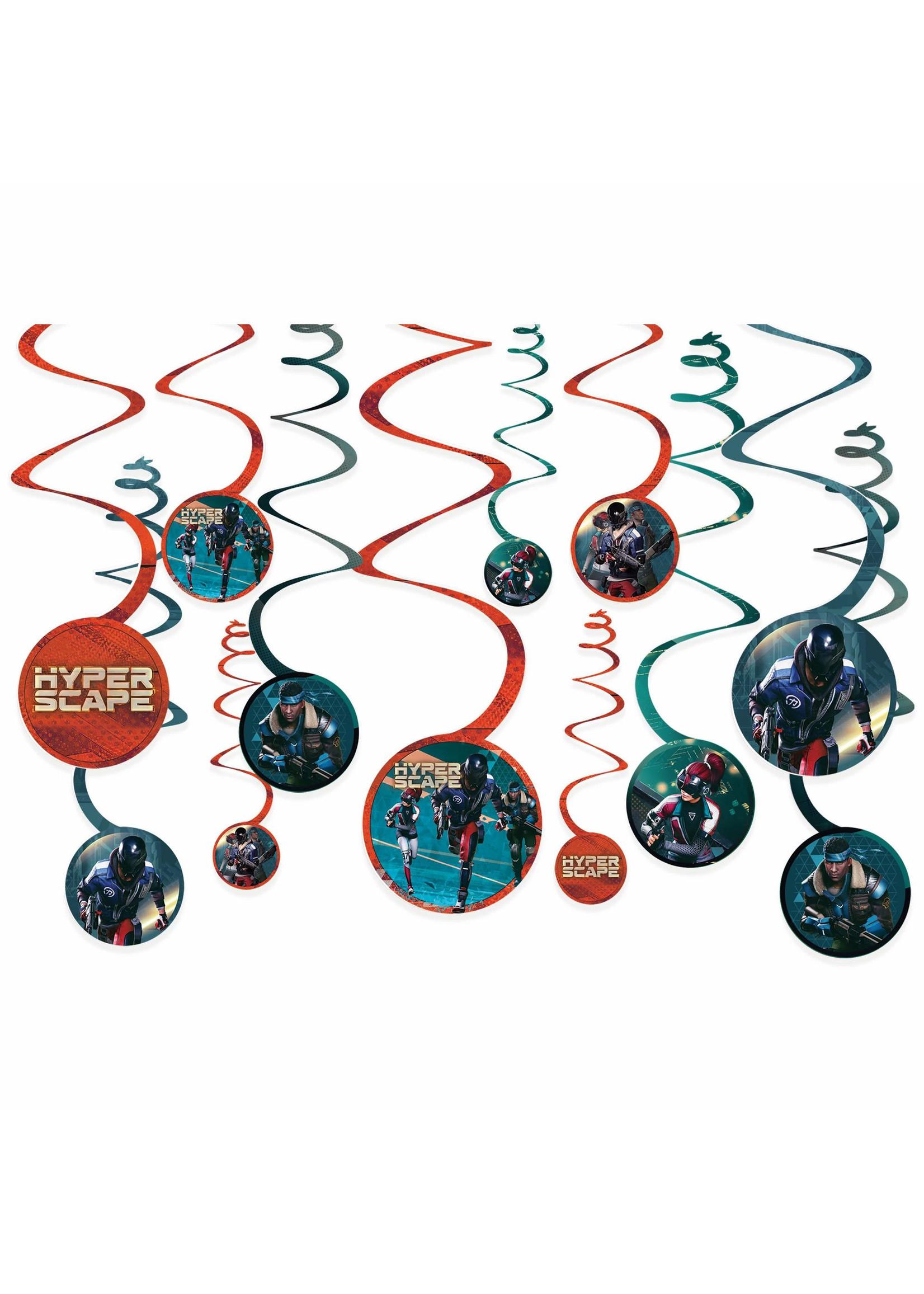Hyper Scape Spiral Decorations 12ct