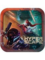 """Hyper Scape 9"""" Square Plate - 8ct"""