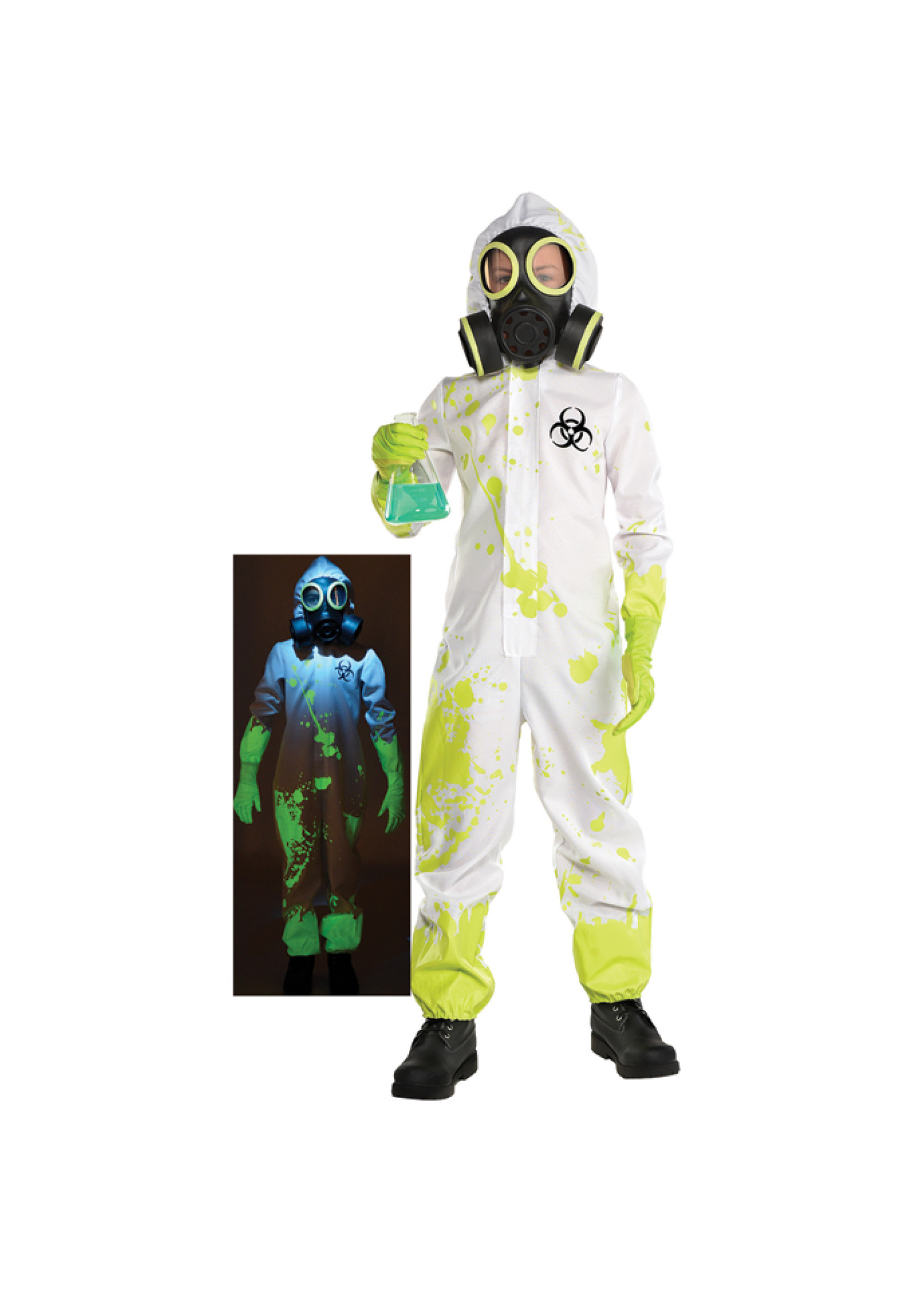 Glow Hazmat Costume - Boy's