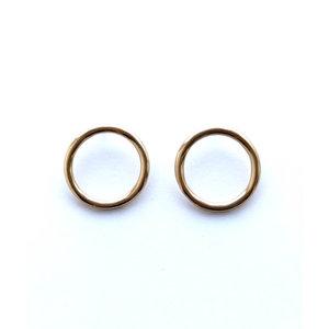 Ink + Alloy Earrings | Brass Ring