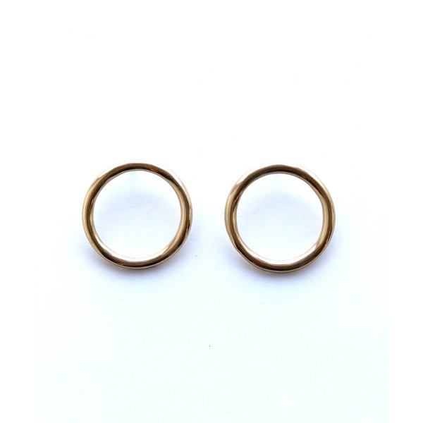 Ink + Alloy Earrings | Brass Ring