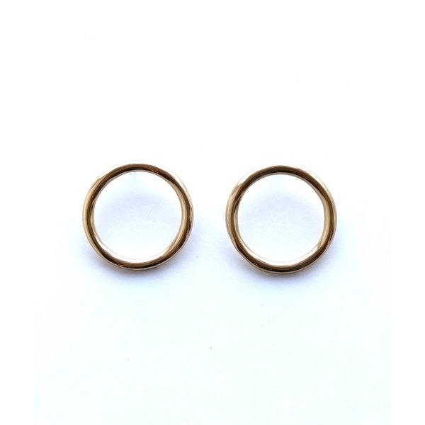 Ink + Alloy Earrings   Brass Ring