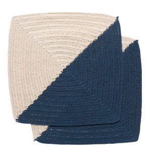 Now Designs Dishcloth   Crochet   Angle Blue