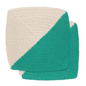 Now Designs Dishcloth | Crochet | Angle Sea Green | Set/2