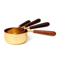 Be Home Measuring Cups | Wood + Gold
