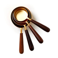 Be Home Measuring Cups   Wood + Gold