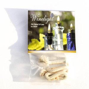 WineLight Clear Glass Cork Wick