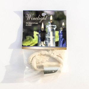 WineLight Cork Wick | Silver Metal