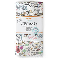 Fish Kiss Tea Towel Oklahoma Map