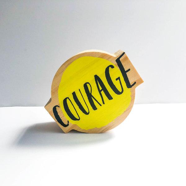 Compendium Wood Sign | Mini | Courage