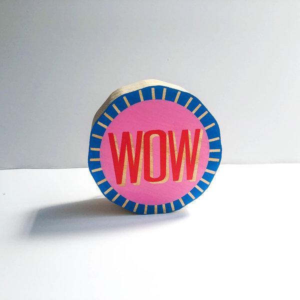 Compendium Wood Sign | Mini | Wow