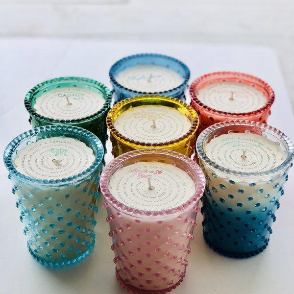Simpatico Candle | Hobnail Glass Jar