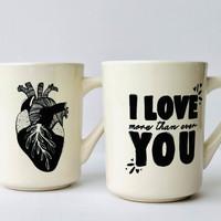 Ink & Etch Diner Mug   Anatomical Heart