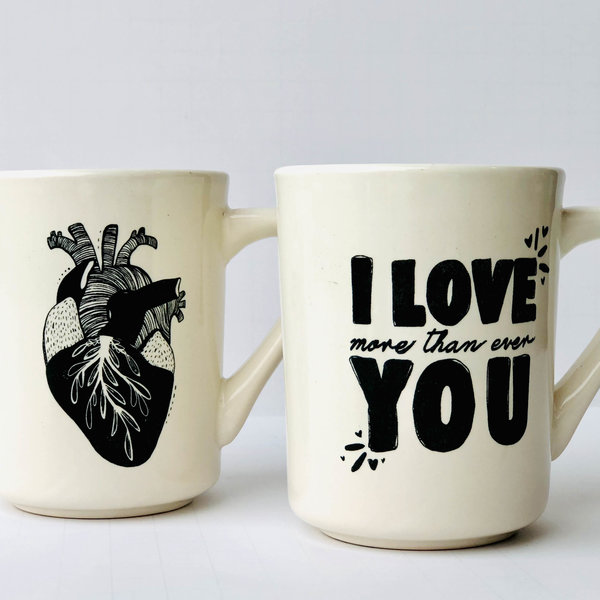 Ink & Etch Mug | Anatomical Heart