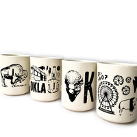 Ink & Etch Diner Mug   Oklahoma Buffalo