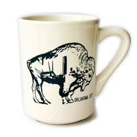 Ink & Etch Diner Mug | OKC Skyline | Buffalo