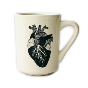 Ink & Etch Diner Mug | Anatomical Heart