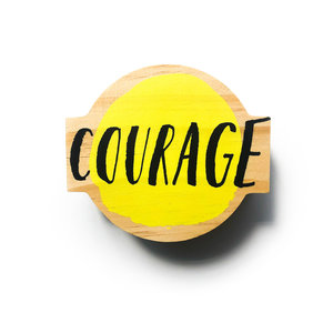 Wood Sign | Mini | Courage
