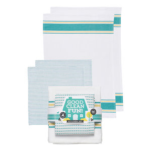 Now Designs Dishtowel Set | Good Clean Fun Teal