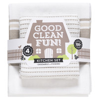 Now Designs Dishtowel Set | Good Clean Fun Slate