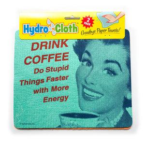 Fiddler's Elbow Hydro Cloth | Drink Coffee | Set/2