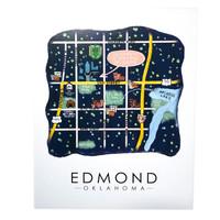 Sugar Mint Art Print |  Edmond Map | 8x10