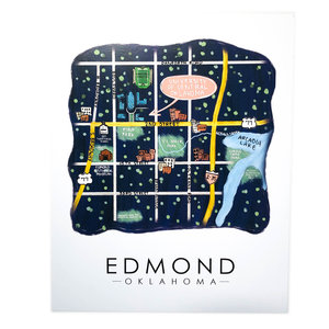 Sugar Mint Art Print |  Edmond Map | 8x10