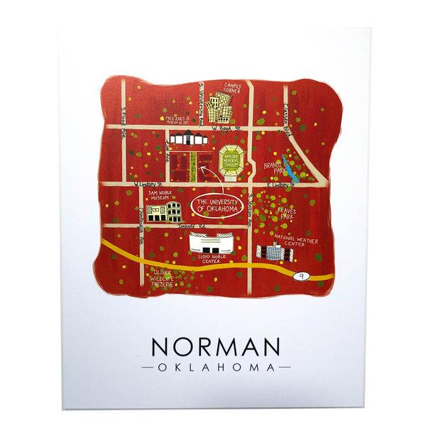 Sugar Mint Art Print |  Norman Map | 8x10