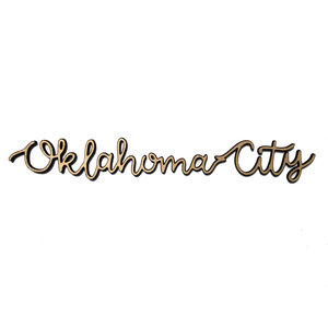 Rooted & Built Design Wall Art | City Script | OKC