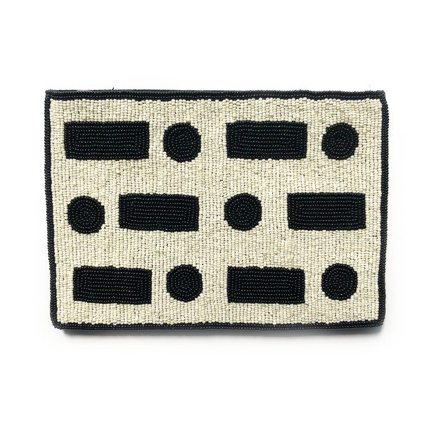 Ink + Alloy Bag Clutch | Beaded