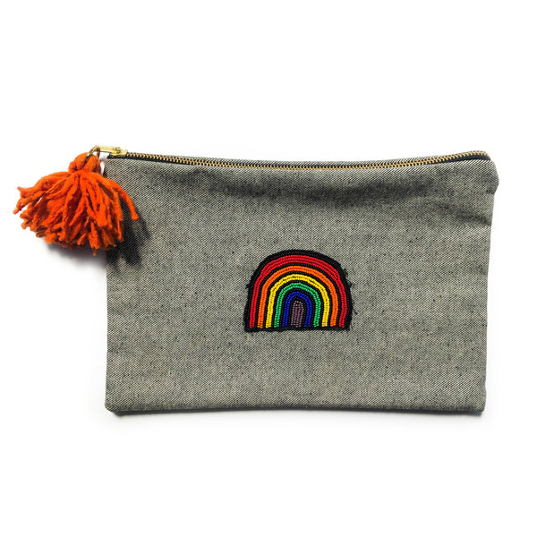 Meso Goods Cosmetic Pouch | 12x8 | Rainbow