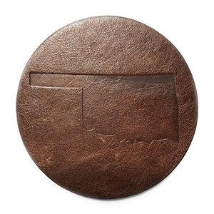 Jimmyrockit Coaster|Leather|Oklahoma