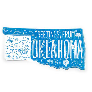 Noteworthy Postcard | Die Cut | Greetings From Oklahoma