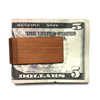 Autumn Summer Money Clip | Wood | Cherry