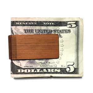Autumn Summer Money Clip|Wood|Cherry
