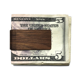 Autumn Summer Money Clip | Wood | Walnut